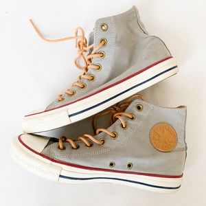 Converse Gray Peached Canvas High Top Sneakers